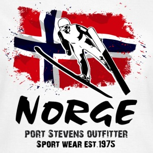 Ski Jumping - Norway Flag T-Shirts - Frauen T-Shirt