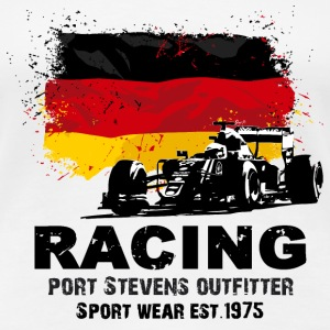 Formula One -  German Flag T-Shirts - Frauen Premium T-Shirt