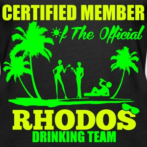 Certified member of the RHODOS drinking team Top - Canotta premium da donna