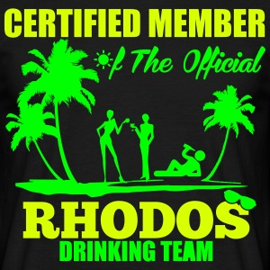 Certified member of the RHODOS drinking team T-Shirts - Men's T-Shirt