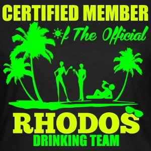 Certified member of the RHODOS drinking team Camisetas - Camiseta mujer