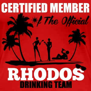 Certified member of the RHODOS drinking team T-Shirts - Frauen Premium T-Shirt