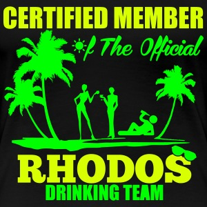 Certified member of the RHODOS drinking team T-Shirts - Women's Premium T-Shirt