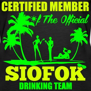 Certified member of the SIOFOK drinking team Top - Canotta premium da donna