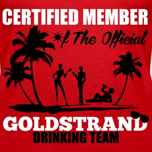 Certified member of the GOLDSTRAND drinking team Top - Canotta premium da donna