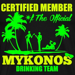 Certified member of the MYKONOS drinking team Magliette - Maglietta Premium da uomo