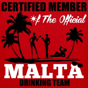 Certified member of the MALTA drinking team Sports wear - Men's Premium Tank Top