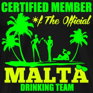 Certified member of the MALTA drinking team T-Shirts - Men's Premium T-Shirt
