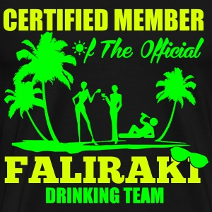 Certified member of the FALIRAKI drinking team T-shirts - Mannen Premium T-shirt