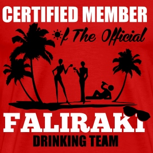 Certified member of the FALIRAKI drinking team T-Shirts - Men's Premium T-Shirt