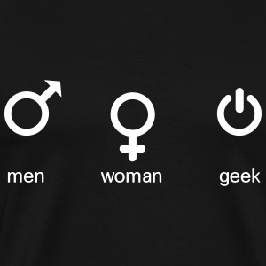 men woman geek T-shirts - Premium-T-shirt herr