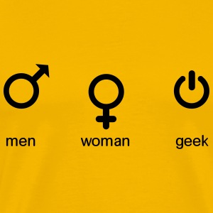 men woman geek T-shirts - Herre premium T-shirt