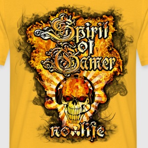 spirit of gamer no life Tee shirts - T-shirt Homme