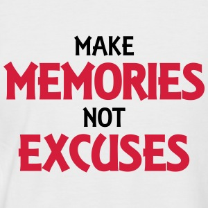 Make memories, not excuses Tee shirts - T-shirt baseball manches courtes Homme