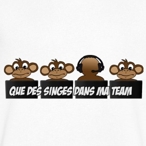 Singes-team Tee shirts - T-shirt Homme col V