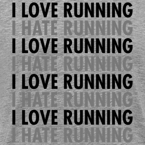 I Love / Hate Running T-Shirts - Men's Premium T-Shirt