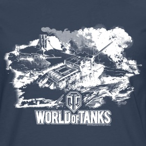 World of Tanks Champ de bataille Homme tee shirt m - T-shirt manches longues Premium Homme