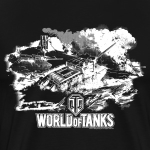 World of Tanks Champ de bataille Homme tee shirt - T-shirt Premium Homme