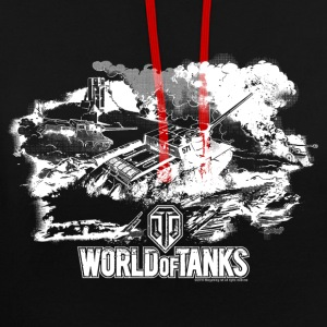 World of Tanks Battlefield Männer Kapuzenpullover - Kontrast-Hoodie