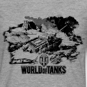 World of Tanks Battlefield Mono Men Longsleeve - Premium langermet T-skjorte for menn
