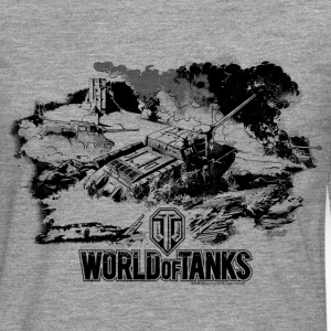 World of Tanks Battlefield Mono Men Longsleeve - Herre premium T-shirt med lange ærmer