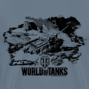 World of Tanks Battlefield Mono Men T-Shirt - Men's Premium T-Shirt