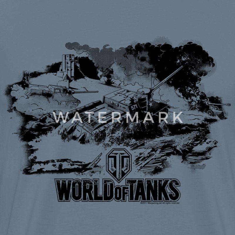 World of Tanks Battlefield Mono Men T-Shirt - Koszulka męska Premium