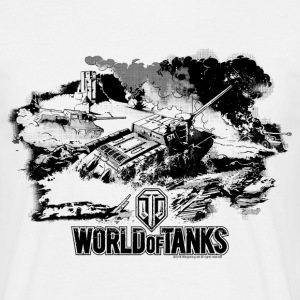 World of Tanks Battlefield Mono Men T-Shirt - Maglietta da uomo