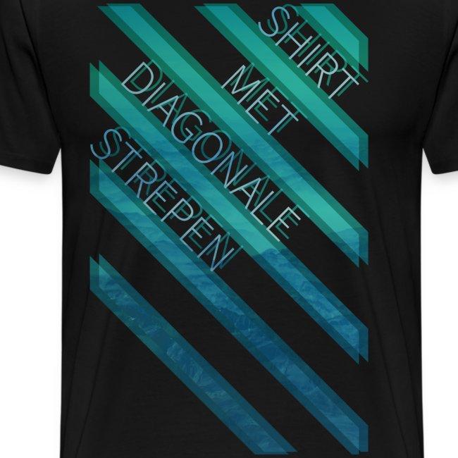 Diagonale strepen mannen premium