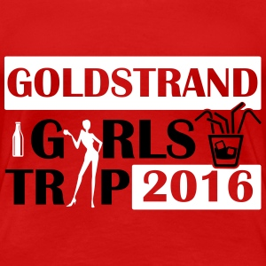 GOLD BEACH GIRLS REIS 2016 T-shirts - Vrouwen Premium T-shirt