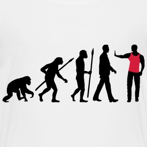evolution_of_man_security01_2c T-Shirts - Teenager Premium T-Shirt