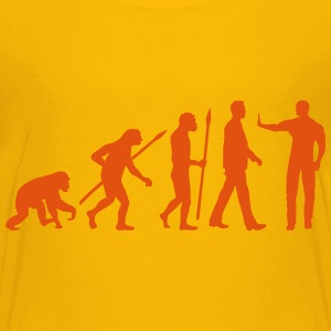 evolution_of_man_security02_1c T-Shirts - Teenager Premium T-Shirt