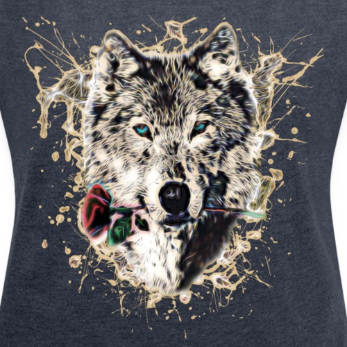 Wolf mit Rose, Love Symbol, Liebe, Wölfe, Natur