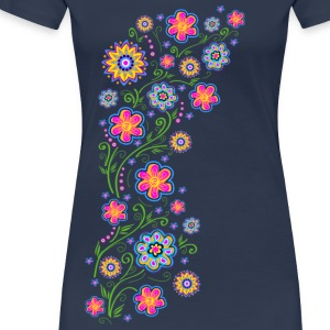 Summer flowers, spring, garden, nature, beautiful T-skjorter - Premium T-skjorte for kvinner