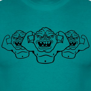 team buddies monster bodybuilder spieren sterke ma T-shirts - Mannen T-shirt