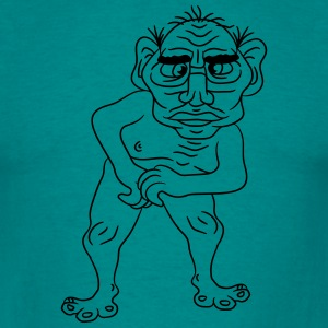 naked ugly disgusting old man grandpa monster trol T-Shirts - Men's T-Shirt