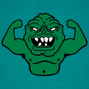 monster bodybuilder muscles strong man Muckis hulk T-Shirts - Men's T-Shirt