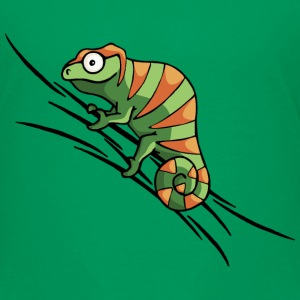 colored chameleon Shirts - Kinderen Premium T-shirt