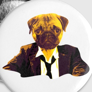 pug at work Buttons - Buttons small 25 mm