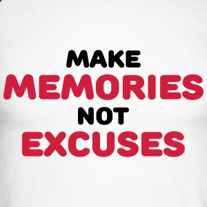 Make memories, not mistakes Long sleeve shirts - Men's Long Sleeve Baseball T-Shirt