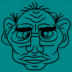 face head ugly disgusting old man grandpa monster  T-Shirts - Men's T-Shirt