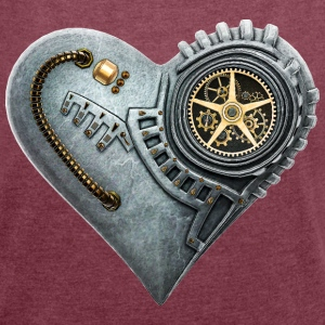 Steampunk Clockwork Heart #1A T-Shirts - Women's T-shirt with rolled up sleeves