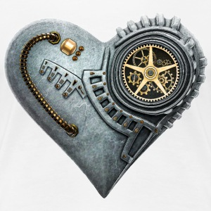 Steampunk Clockwork Heart #1A Women's Premium T-Sh - Frauen Premium T-Shirt