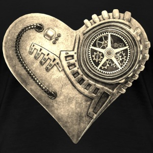Steampunk Clockwork Heart #1B T-Shirts - Women's Premium T-Shirt