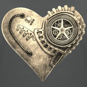 Steampunk Clockwork Heart #1B T-Shirts - Women's V-Neck T-Shirt