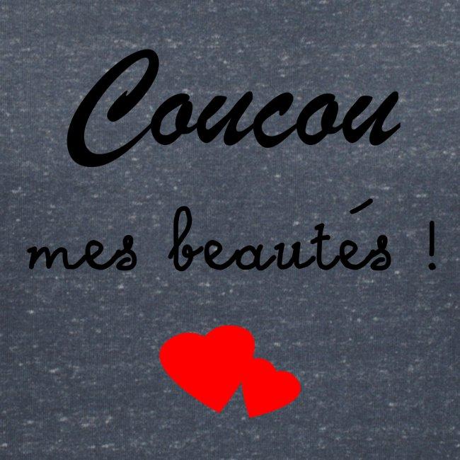 """Tshirt Femme rose """"Coucou mes beautés !"""""""
