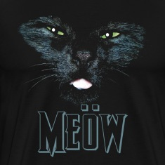 Cat shirt meow Heavy Metal black shirt T-Shirts