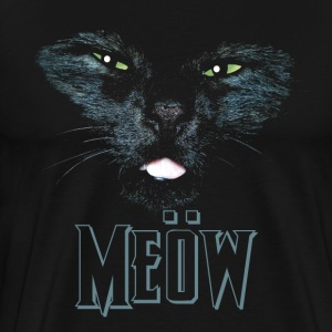 Cat shirt meow Heavy Metal black shirt T-Shirts - Men's Premium T-Shirt