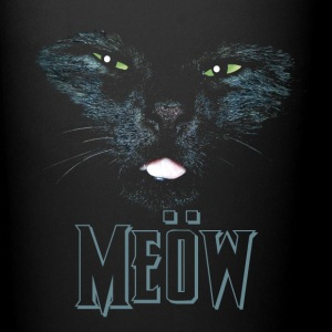 Cat shirt meow Heavy Metal black shirt Mugs & Drinkware - Full Colour Mug