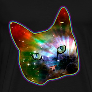 cat shirt rainbow space cat Koszulki - Koszulka męska Premium